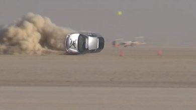 Crash Honda Insight record velocità 300 km/h INCIDENTE AUTO RECORD di Velocità