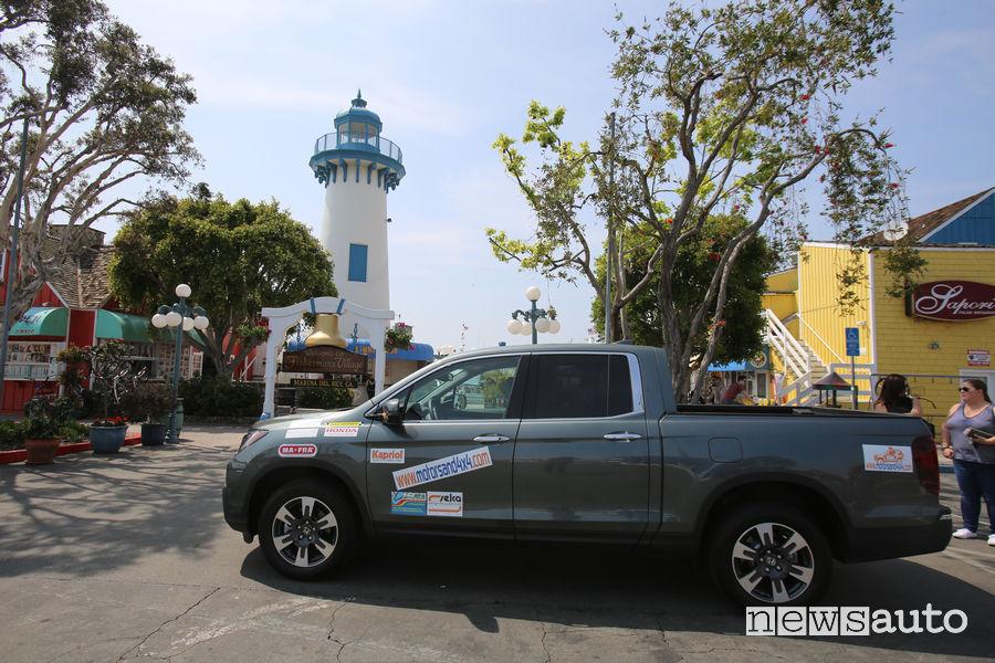 Viaggio California Honda Ridgeline Marina del Rey Fisherman Village